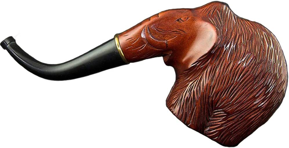 6.42'' 'Elephant' Carved wooden smoking pipe with cooling. Best smoking pipes. WORLDWIDE shipping.