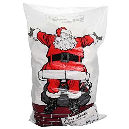 eBuyGB Gigante de plástico de Papá Noel sack-75 X 50 cm ...