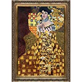 overstockArt Klimt Portrait of Adele BlochBauer 1907 Oil Painting with Baroque Wood Frame, Antiqued Gold Finish