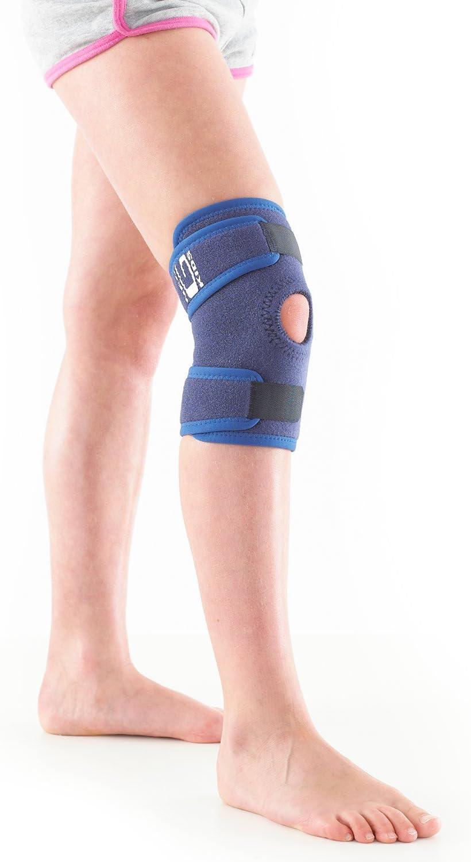 Neo G Rodillera infantil - Ayuda con síntomas de artritis infantil, rodillas lesionadas, débiles, esguinces, distensiones, lesiones deportivas. Tamaño Universal - Unisex