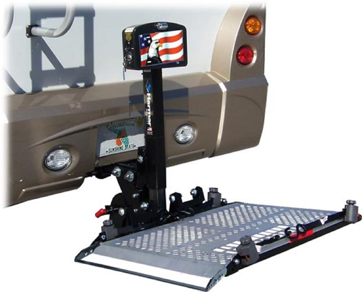 Harmar Mobility AL300RV Fusion Universal Scooter Lift Outside Fully Automatic Carrier with II/III Hitch Adapter & Wiring Harness & Swing-Away Arm