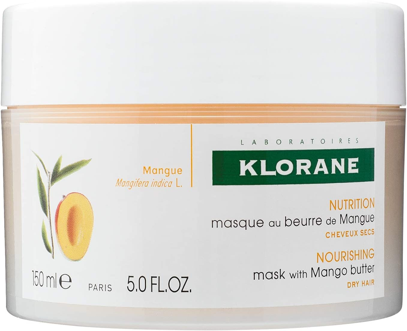 KLORANE Mascarilla Reparadora Manteca de Mango 150 Ml.