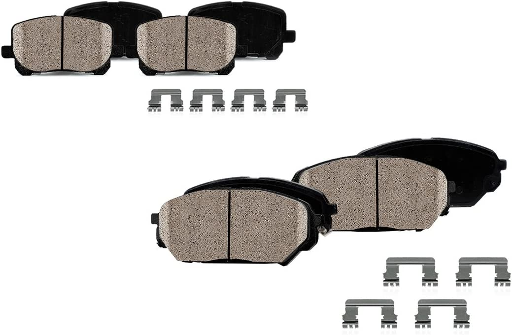 Hardware CPK11685 FRONT Dual Layer Rubber Shims Ceramic Brake Pads SN95 REAR Performance Quiet Low Dust 8