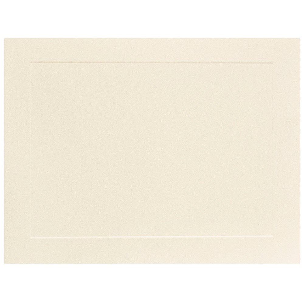 JAM Paper Flat Note Cards - 4 1/4'' x 5 1/2'' - Ivory Panel - 500/box