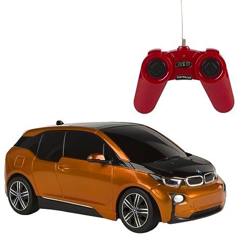 Rastar - Coche teledirigido BMW I3, escala 1:24, color naranja (ColorBaby