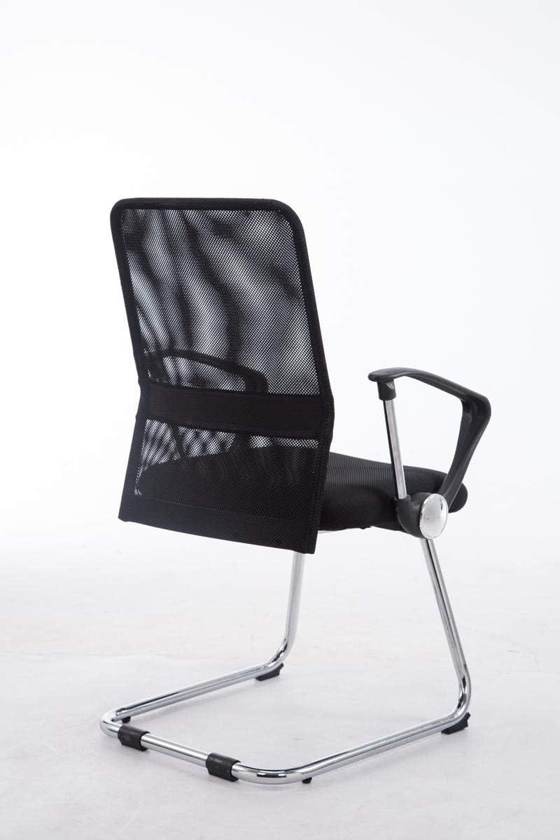 Farbe:schwarz Pitt Freischwinger I Konferenzstuhl Mit Metallgestell In Chrom-Optik Und Armlehnen I Wartezimmerstuhl Mit Atmungsaktivem Netzbezug