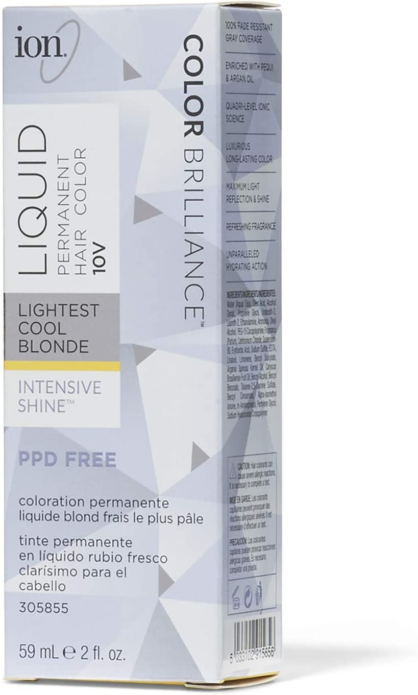 IonColor líquido permanente para el cabello, , 2.0000 Ounce, Rubio frío más ligero de 10 V., 1 uds. por paquete, 1.00[set de ]