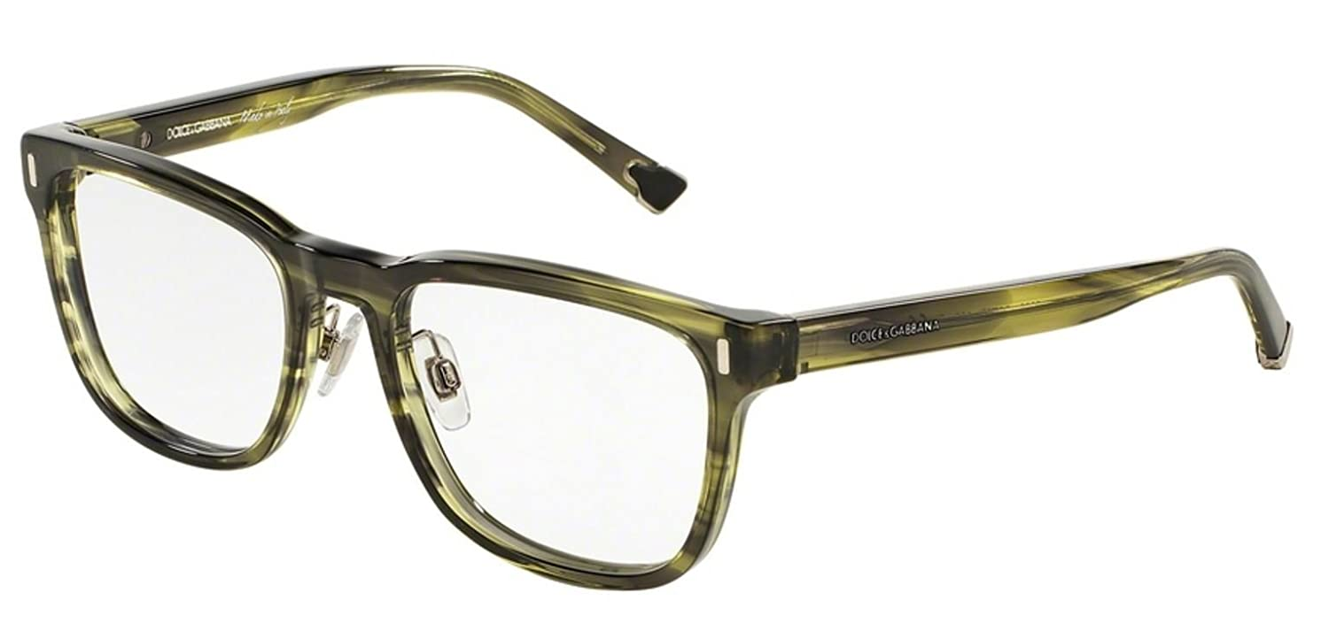 Striped Olive Green Dolce/&Gabbana DG3241 Eyeglass Frames 2926-52