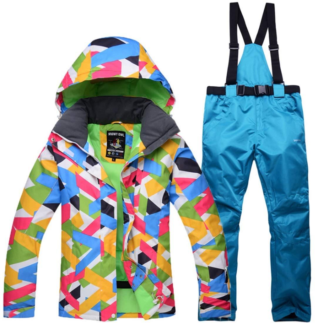 YXDIANZI 女性の防風スキー スーツ防水スキーパンツ(S-XL) (色 : 04, サイズ : L)  Large