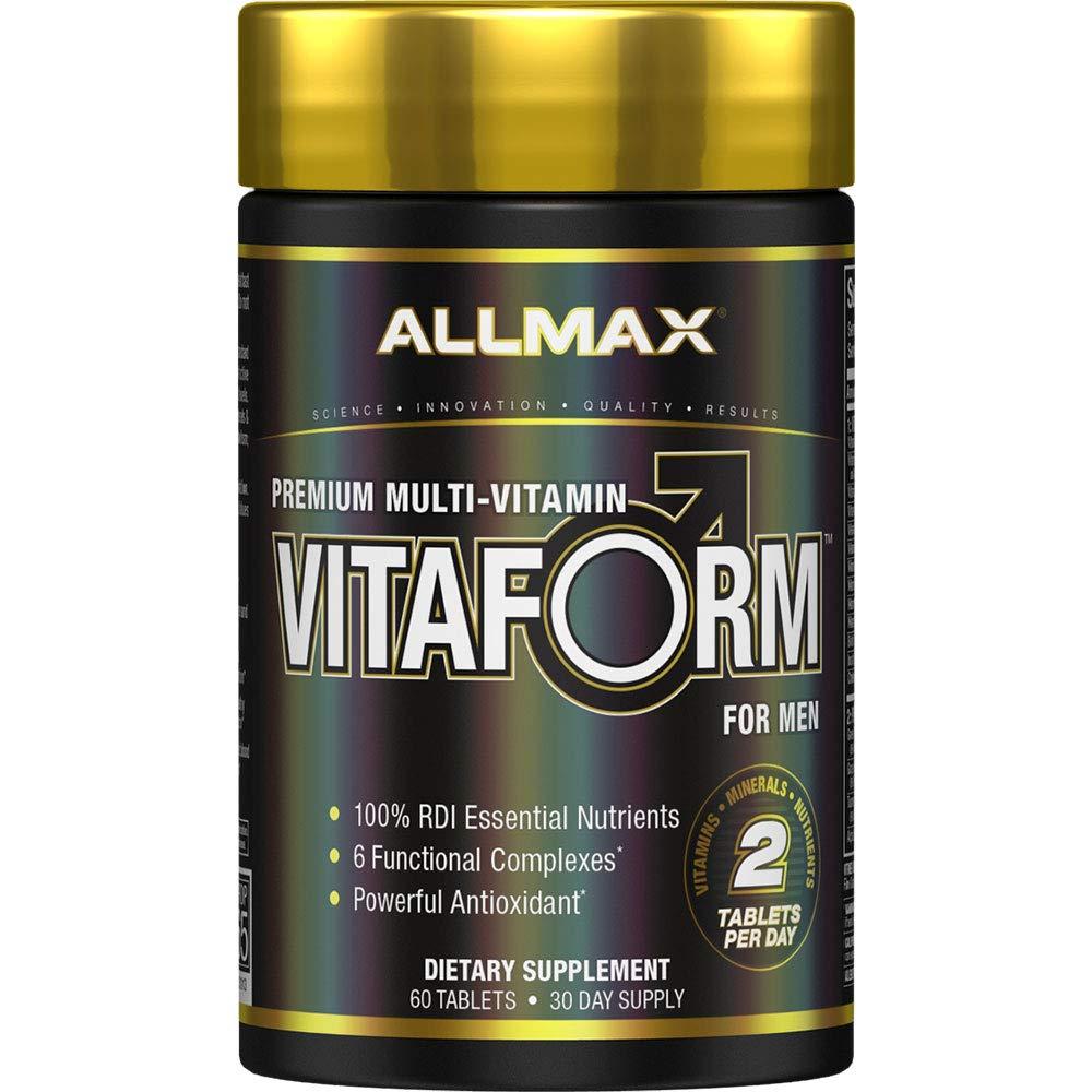 ALLMAX Nutrition Premium Vitaform, Performance Vitamin for Men, 60 Tablets