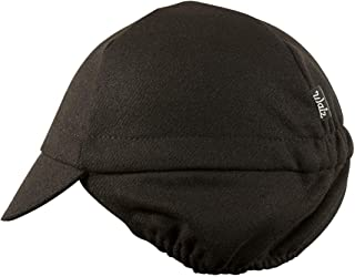 product image for Wool 4-Panel Ear Flap Black Cycling Cap