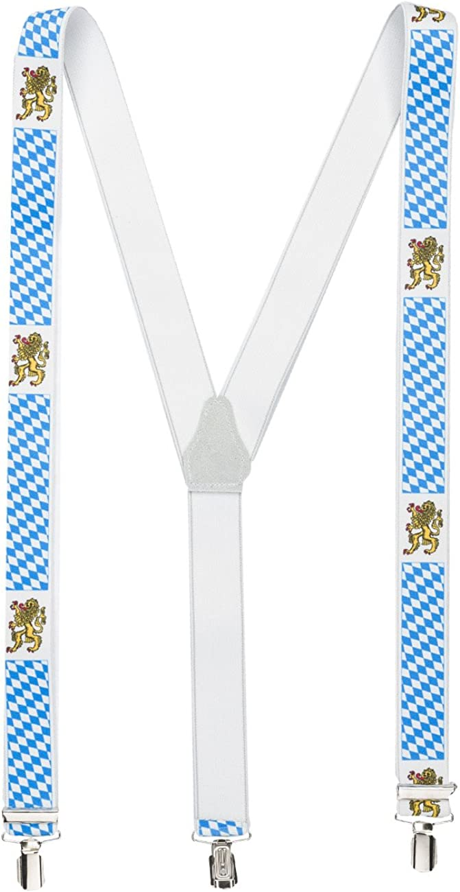 Shenky Suspenders Braces 3 Clips extra strong Y-Form Made in Germany