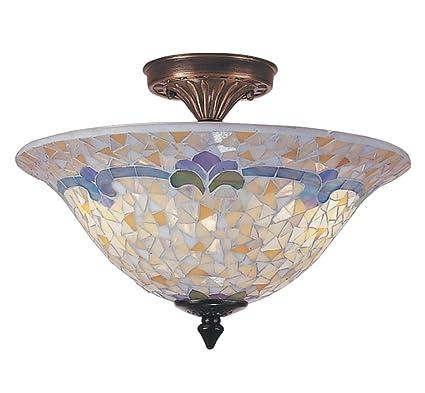 Dale tiffany tm100553 johana mosaic flush mount light antique brass dale tiffany tm100553 johana mosaic flush mount light antique brass and art glass shade mozeypictures Gallery