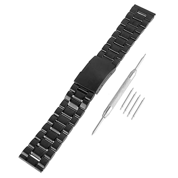 Beauty7 Kits de 26mm Correas de Relojes 304 Acero Inoxidable Cinta de Malla Hebillas Watch Band Unisex Pulsera Moda Popular Negro Negra 26 mm: Amazon.es: ...