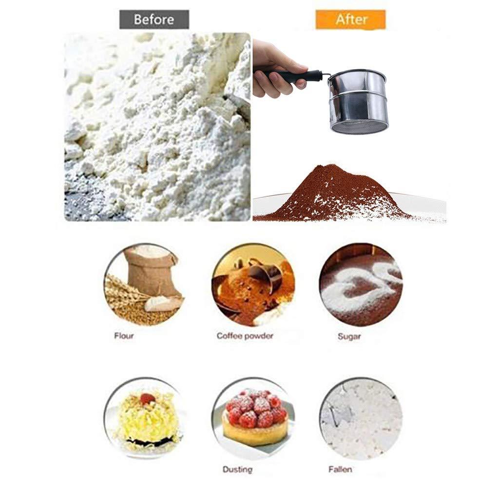 SimplylinNew Stainless Steel Flour Sifter Sieve Filter Baking Icing Sugar Powder Strainer