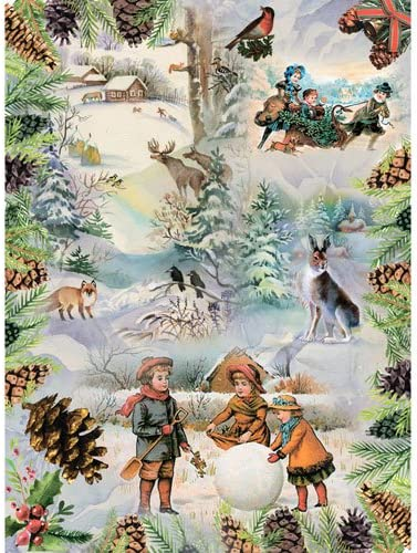 ~ 11,1 x 15,11 inches Rice Paper for decoupage Frosty Morning Made in Russia Christmas