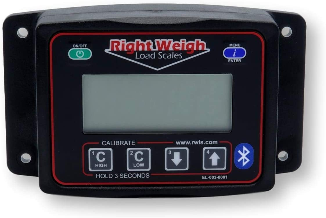 for Single Height Control Valve Air Suspensions Bluetooth-Enabled Right Weigh 201-EBT-01B Exterior Digital Axle Load Scale