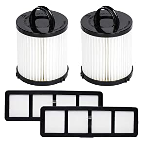 HIFROM Replacement Filter Set DCF-21 & EF-6 For Eureka Airspeed AS1000 Series AS1040 AS1061A 3270 3272AV Upright Vacuum Cleaners Replaces Part# 67821 68931 69963 830911 Vacuum Dust Cup HEPA (Set of 2)