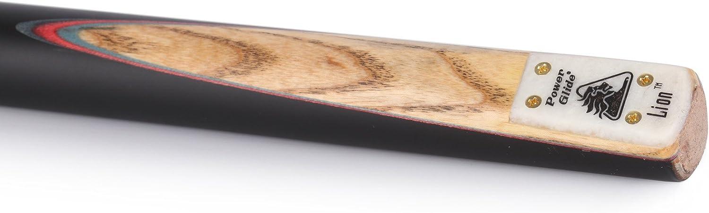 POWERGLIDE Lion Anglais 144,8/cm 3/pi/èces Billard Embout de 8,5/mm Standard Noir