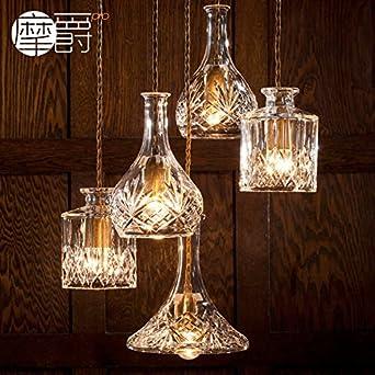 GroBartig JJ Moderne LED Pendelleuchten Lampe Im Europäischen Stil American Crystal  Glas Flasche Verzierten Vasen Glas Geätzt