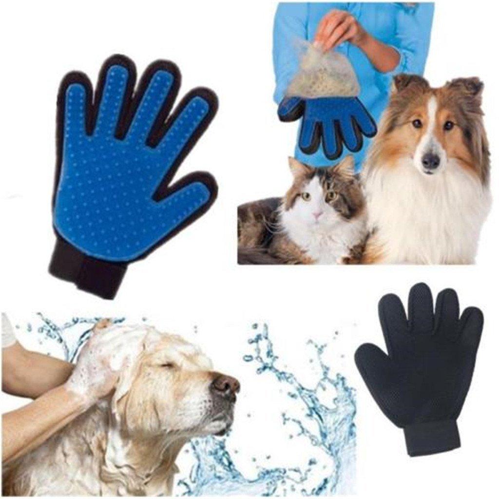 Fellpflege-/Massagehandschuhbü rste, Haarentferner, Badebü rsten-Set fü r lang- und kurzhaarige Hunde, Pferde, Kaninchen, Katzen. Yeaton FM-0001
