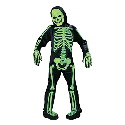 Fun World Green Skelebones Costume, Medium 8 - 10, Multicolor: Toys & Games