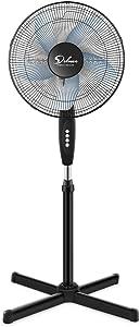 HealSmart Oscillating 16″ 3 Adjustable Speed Pedestal Stand Fan for Indoor, Bedroom, Living Room, Home Office & College Dorm Use, 16 Inch, Black