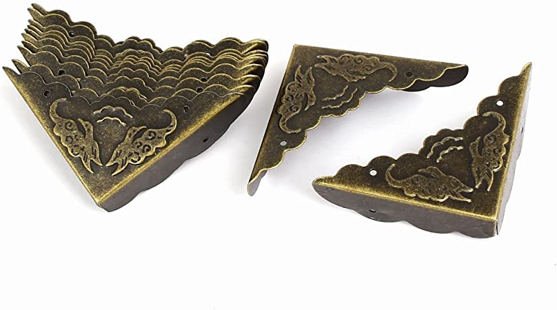 Bronze Lot de 12 Protecteur de Coin D/écor R/étro Protection pour Meuble Coffret /à Bijoux