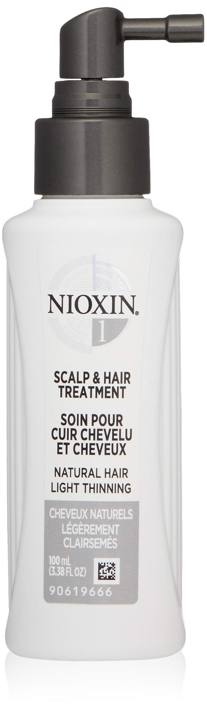 Nioxin Scalp and Hair Leave-In Treatment System 1 for Fine Hair with Light Thinning, 3.4 Ounce