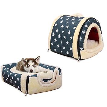 Casita de perro, casita para mascota, iglú plegable, nido de suave cachemir para mascota, sala de estar y sofá 2 en 1 para perro: Amazon.es: Productos para ...
