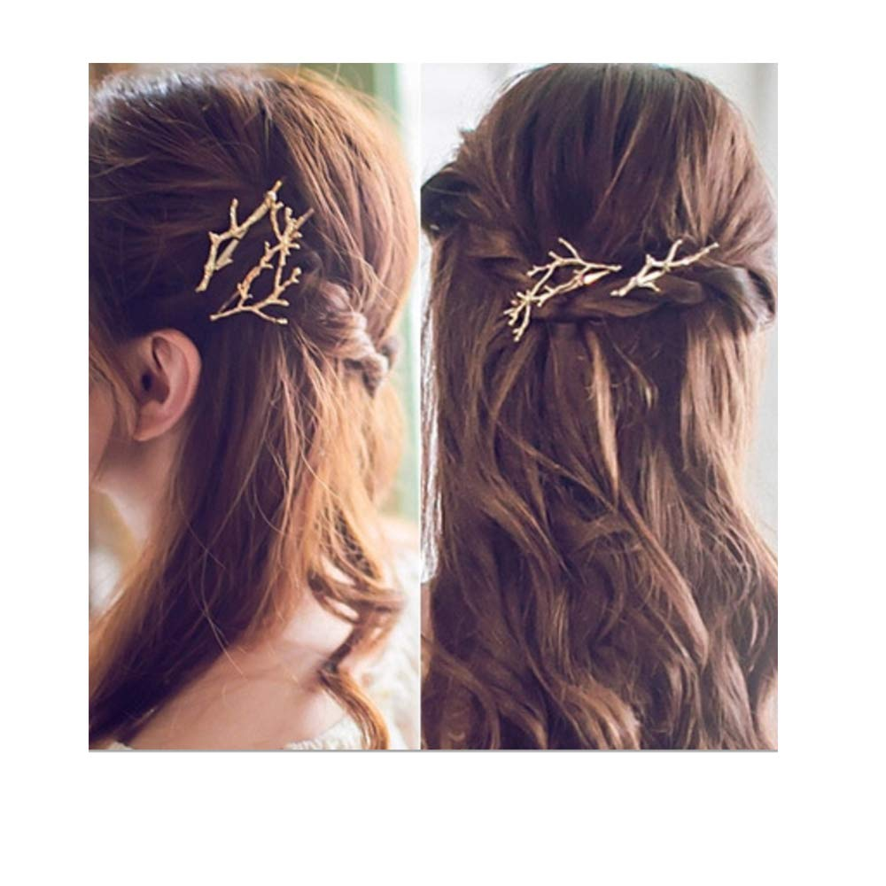 Women Runway Tree Branch Hairpins Hair Fascinator Bobby Pins Girl Gifts