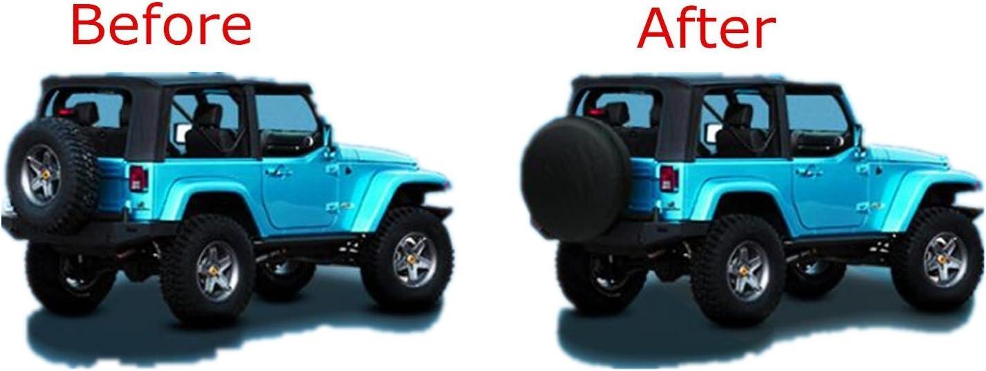 16 RV 30-31 Dia SUV Altopcar Overdrive Universal Fit for Jeep Truck Spare Tire Cover Black Soft PVC Trailers