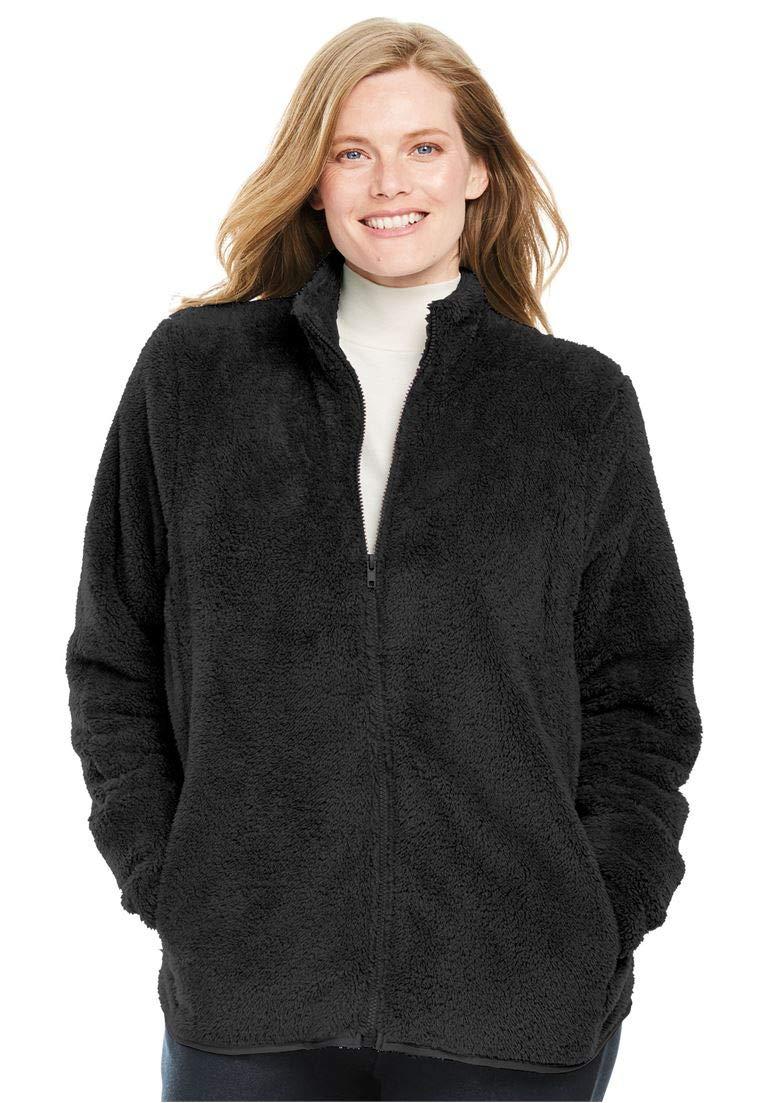 Women's Plus Size Fluffy Fleece Jacket
