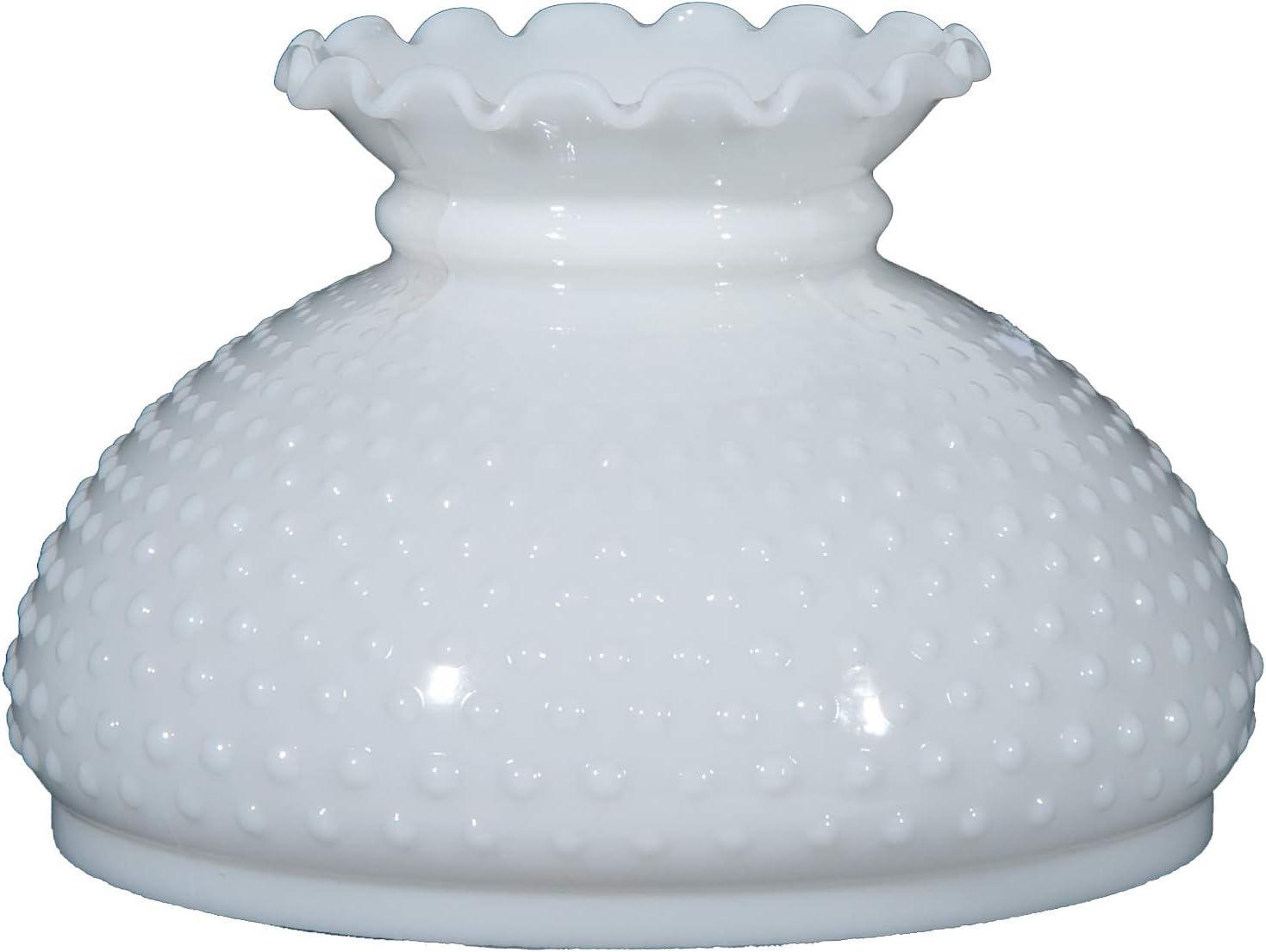 B P Lamp 10 Shade, STU, Opal, Hobnail