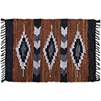 HF by LT Snake River Canyon Handwoven Leather Rug, 24 x 36, Multi-Colored