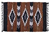 Cheap HF by LT Snake River Canyon Handwoven Leather Rug, 24″ x 36″, Multi-Colored