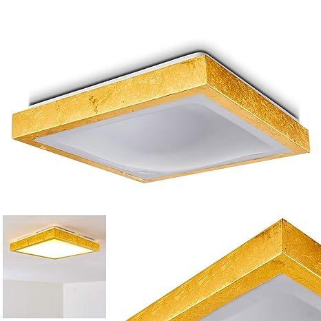 Lámpara de techo LED Sora cepillada en oro - LED moderna ...