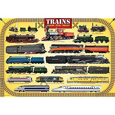 Trains 100 Piece Jigsaw Puzzle: Toys & Games