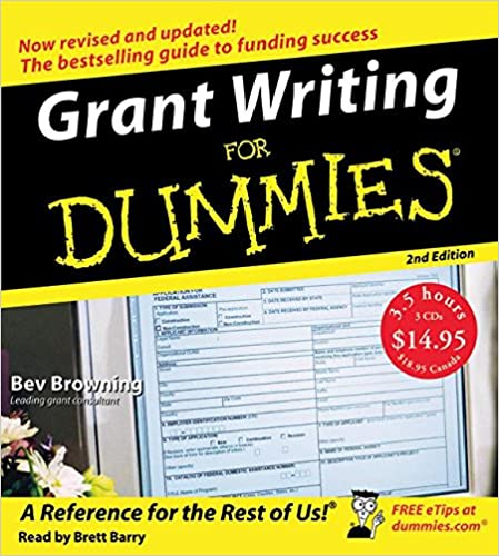 grant writing for dummies nd ed cd beverly browning brett grant writing for dummies 2nd ed cd