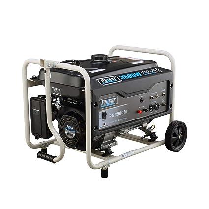 Amazon.com: Pulsar 3500 vatios portátil Gasolina Generador ...