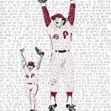 1980 Philadelphia Phillies World Series Word Art Poster - Phillies Print - Phillies Decor - Baseball Art - Great Gift