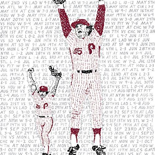 1980 Philadelphia Phillies World Series Word Art Poster - Phillies Print - Phillies Decor - Baseball Art - Great Gift ()