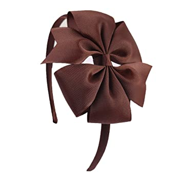 Amazon.com   Special Beauty Nice 2 Pieces Solid Ribbon Pinwheel Bowknot  Headbands for Kids Girls Handmade Hairband Candy Colors Hair Accessories 20    Beauty 4fed456c2b9