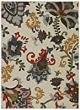 Mohawk Home Woodbridge Salinas Floral Printed Area Rug, 5'x8′, Multicolor For Sale
