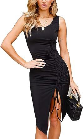 Vestidos Mujer Faldas Chic Fiesta Negra Backless Vendaje de Sin ...