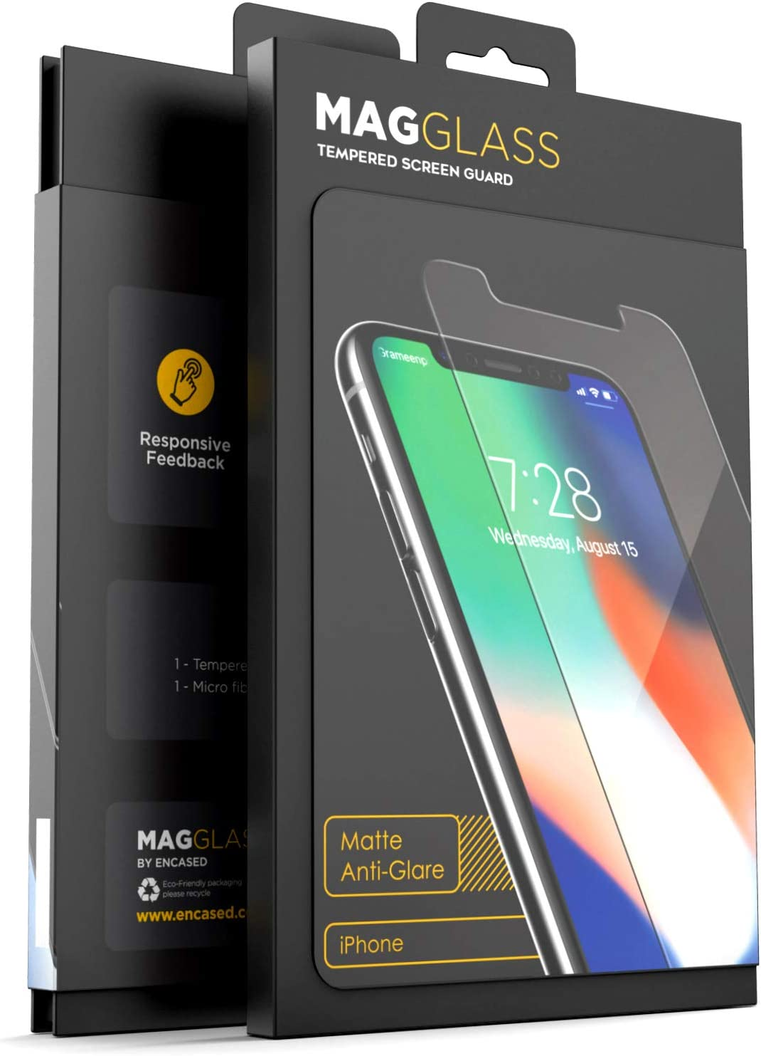 Magglass iPhone 11/iPhone XR Matte Screen Protector - Fingerprint Resistant Anti Glare Tempered Glass (Case Compatible Fit)