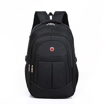 DeLamode Men Swiss Army knife Notebook Backpack Double Shoulder Travel Student Bag Black-20
