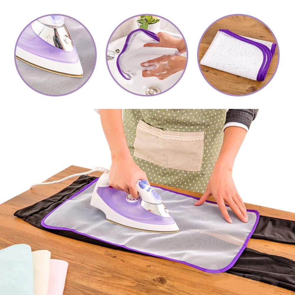 5 Pezzi Mesh//Net Panno per Stirare Stiratura Protettiva Stuoia per Stirare da Viaggio FOONEE Stuoia per Stirare Portatile