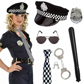 SPECOOL Disfraz de Policía de 6 Piezas para Fiesta de ...