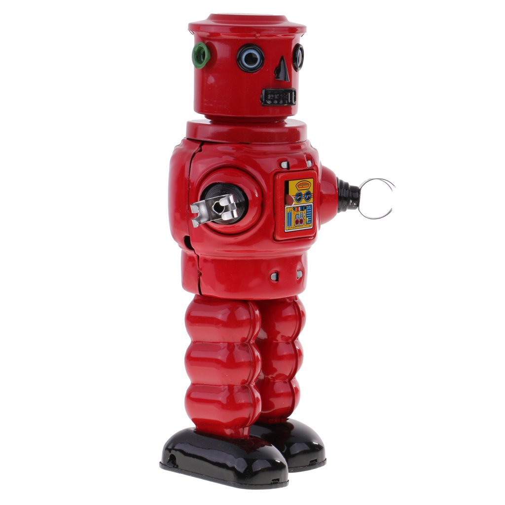 Jili Online New Mechanical Roby Robot Wind Up Clockwork Tin Toys Decoration Collectibles by Jili Online (Image #3)